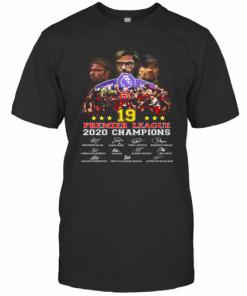 Liverpool FC 19 Premier League 2020 Champions Signatures T-Shirt Classic Men's T-shirt