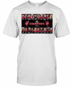 Liverpool FC Champions 2019 2020 Signatures T-Shirt Classic Men's T-shirt