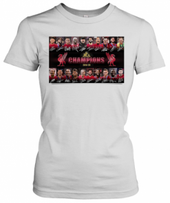 Liverpool FC Champions 2019 2020 Signatures T-Shirt Classic Women's T-shirt