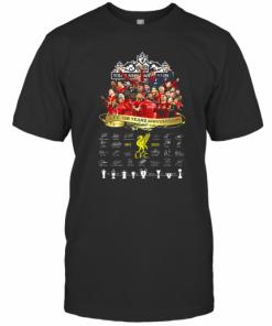 Liverpool Fc 128 Years Anniversary 1892 2020 Signatures T-Shirt Classic Men's T-shirt