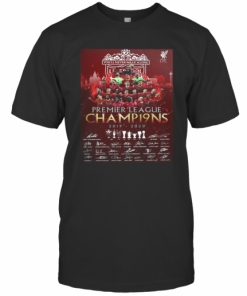 Liverpool Football Club Premier League Champions 2019 2020 Signatures T-Shirt Classic Men's T-shirt