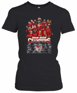 Liverpool Football Club Team 2019 2020 Champions Signatures T-Shirt Classic Women's T-shirt