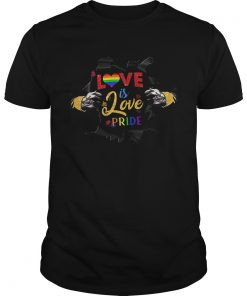 Love Is Love Pride Open Hand Heart LGBT  Unisex