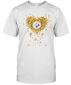 Love Pittsburgh Steelers Football Hearts T-Shirt Classic Men's T-shirt