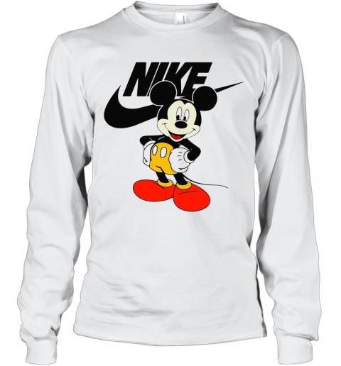 Mickey Mouse Nike Logo T-Shirt Long Sleeved T-shirt