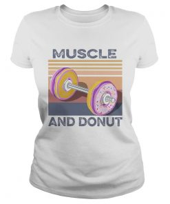 Muscle And Donut Vintage  Classic Ladies