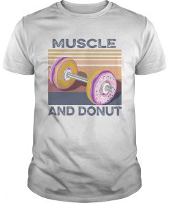 Muscle And Donut Vintage  Unisex