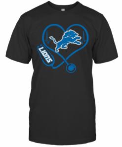 Official Stethoscope Detroit Lions Nurses T-Shirt Classic Men's T-shirt