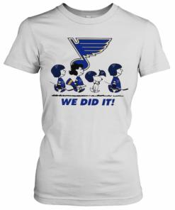 Peanuts St Louis Blues We Did It T-Shirt Classic Women's T-shirt