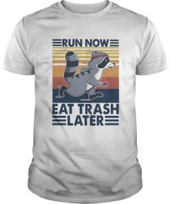 Run Now Eat Trash Later Vintage  Unisex
