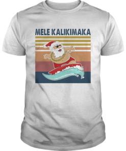 Santa Mele Kalikimaka Surfing Vintage Retro  Unisex