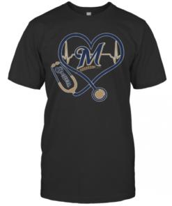 Stethoscope Milwaukee Brewers Nurses T-Shirt Classic Men's T-shirt