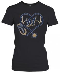 Stethoscope Milwaukee Brewers Nurses T-Shirt Classic Women's T-shirt