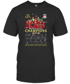 The Liverpool Fc Champions Premier League 2019 2020 We'Ll Never Walk Alone Signatures T-Shirt Classic Men's T-shirt