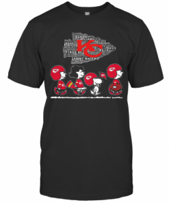 The Peanuts Kansas City Chiefs Team Football T-Shirt Classic Men's T-shirt