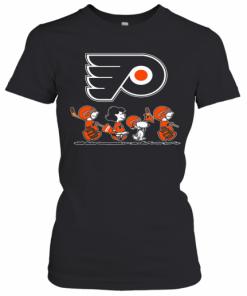 The Peanuts Philadelphia Flyers Hockey Logo T-Shirt Classic Women's T-shirt