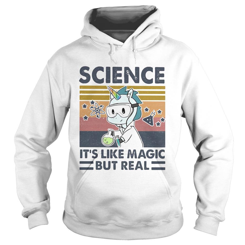Unicorn science its like magic but real vintage retro Hoodie