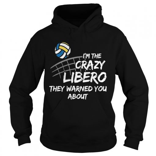 Volleyball Im the crazy libero they warned you about  Hoodie