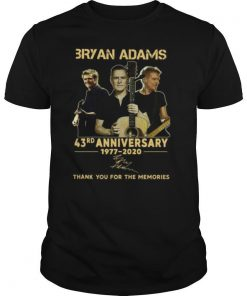 3ryan Adams 43rd Anniversary 1977 2020 shirt