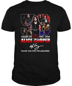 58 Years Of 1962 2020 Alice Cooper Thank You For The Memories shirt
