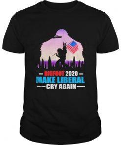 BIGFOOT 2020 MAKE LIBERAL CRY AGAIN AMERICAN FLAG  Unisex