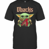 Baby Yoda Hug Arizona Diamondbacks Logo T-Shirt Classic Men's T-shirt