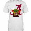 Baby Yoda Hug Atlanta Braves Football T-Shirt Classic Men's T-shirt
