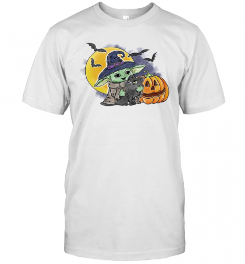 Baby Yoda Hug Cat Halloween T-Shirt Masswerks Store