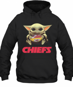 Baby Yoda Hug Kansas City Chiefs Football T-Shirt Unisex Hoodie