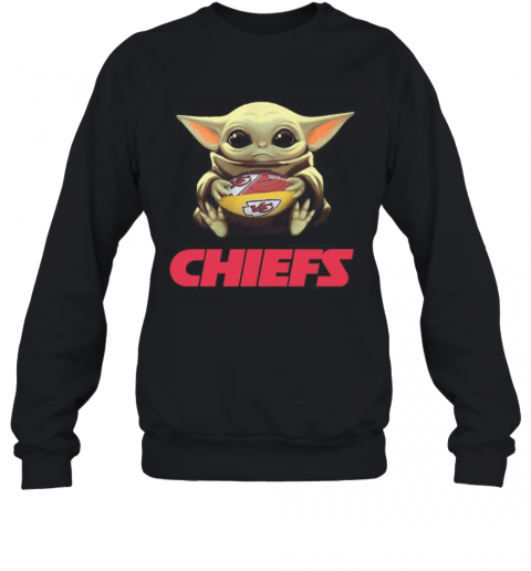 Baby Yoda Hug Kansas City Chiefs Football T-Shirt Unisex Sweatshirt