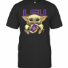 Baby Yoda Hug Lsu Tigers Football T-Shirt Classic Men's T-shirt