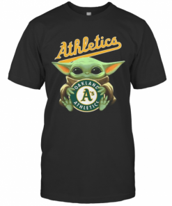 Baby Yoda Hug Oakland Athletics Baseball T-Shirt Classic Men's T-shirt
