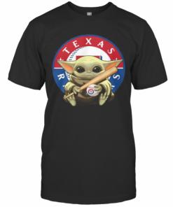 Baby Yoda Texas Rangers Baseball T-Shirt Classic Men's T-shirt