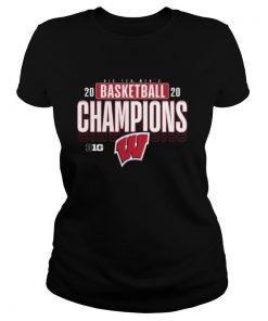 Big ten men's 2020 basketball champions wisconsin badgers shirt