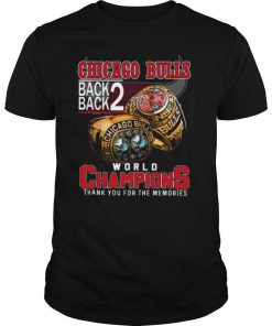 Chicago Bulls Back Back World Champions Thank You For The Memories shirt