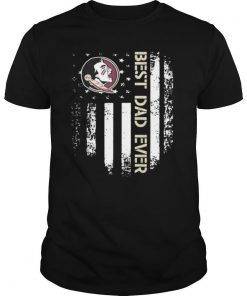 Florida State Seminoles Best Dad Ever American Flag shirt