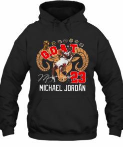 GOAT 23 Michael Jordan Signature T-Shirt Unisex Hoodie