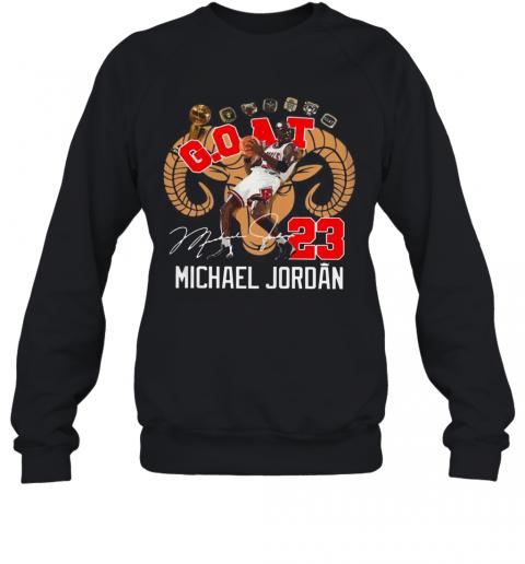 GOAT 23 Michael Jordan Signature T-Shirt Unisex Sweatshirt