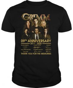 Grimm 09th anniversary 2011 2020 thank you for the memories signatures shirt