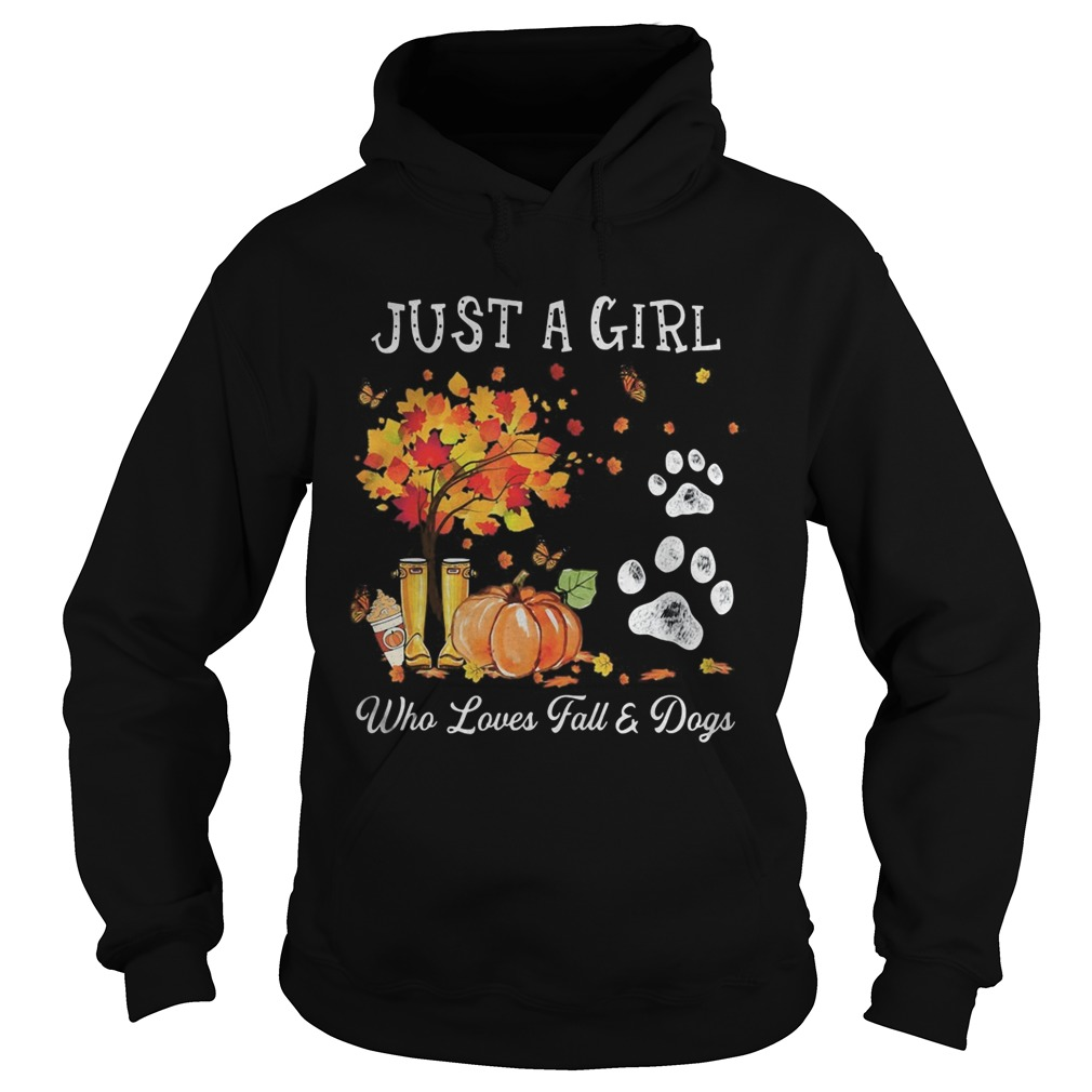 Halloween Just a girl who loves fall and dogs Hoodie