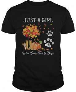 Halloween Just a girl who loves fall and dogs  Unisex