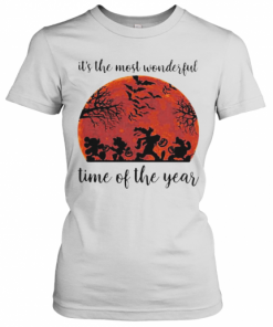 Halloween Mickey Mouse And Friends It'S The Most Wonderful Time Of The Year Sunset T-Shirt Classic Women's T-shirt