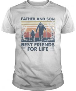 Hiking Father and son best friends for life vintage retro  Unisex