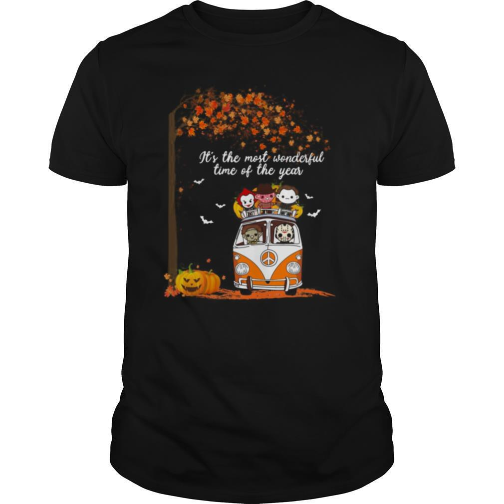 Hippie Car Horror Characters Chibi It's The Most Wonderful Time Of The Year Halloween Shirt Masswerks Store