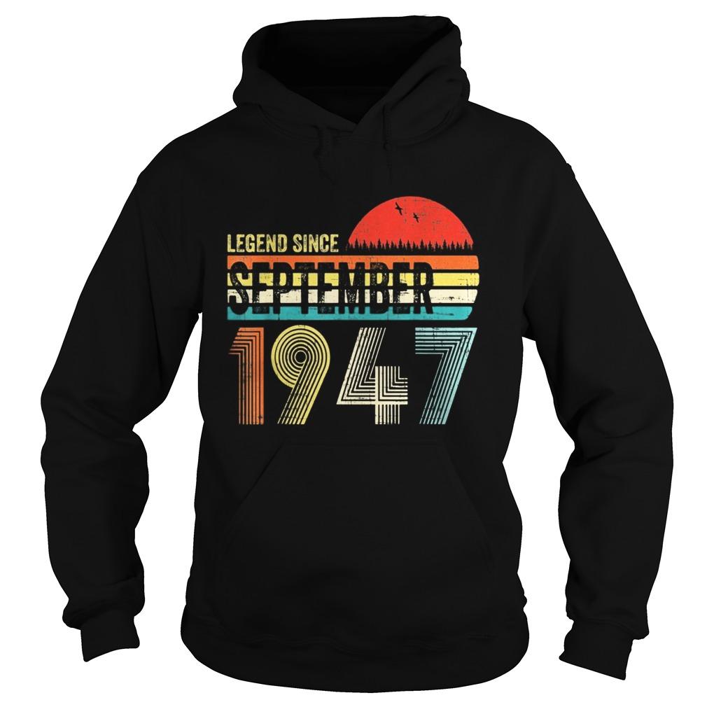 Legend since september 1947 sunset vintage retro  Hoodie