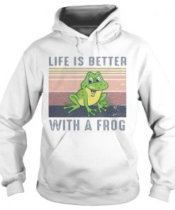 Life Is Better With A Frog Vintage Retro  Hoodie