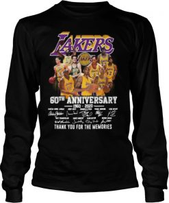 Los Angeles Lakers 60Th Anniversary 1960 2020 Thank You For The Memories Signatures