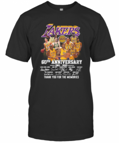 Los Angeles Lakers 60Th Anniversary 1960 2020 Thank You For The Memories Signatures T-Shirt Classic Men's T-shirt