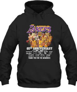 Los Angeles Lakers 60Th Anniversary 1960 2020 Thank You For The Memories Signatures T-Shirt Unisex Hoodie