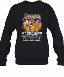 Los Angeles Lakers 60Th Anniversary 1960 2020 Thank You For The Memories Signatures T-Shirt Unisex Sweatshirt